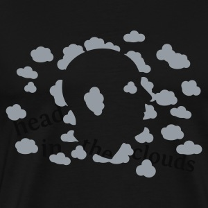 Navy head in the clouds Kid's Tops - Men's Premium T-Shirt