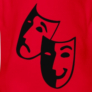 Rot Theater - Schauspieler - Masken Kinder Shirts - Baby Bio-Kurzarm-Body