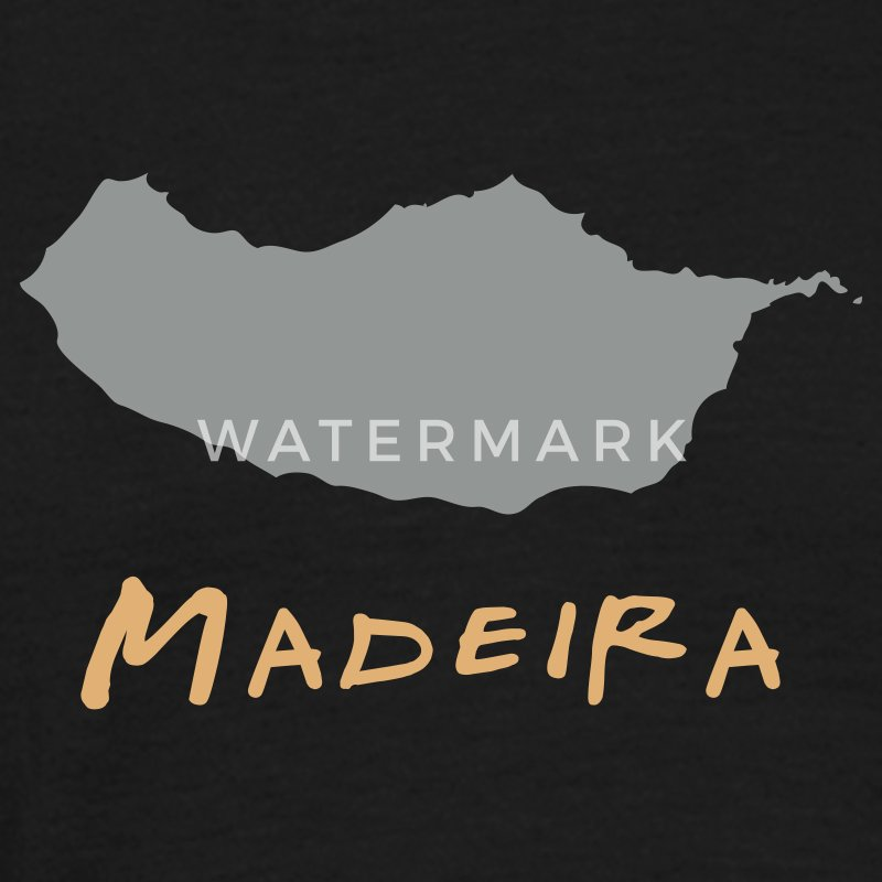 Black Madeira Island Men's Tees (short-sleeved) - Men's T-Shirt