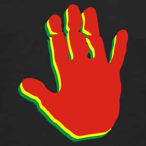 Black Rasta Hands Jumpers  - Men's Premium Longsleeve Shirt