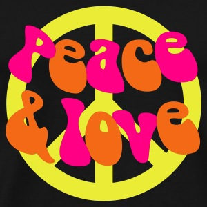 Groovy Peace and Love - Men's Premium T-Shirt