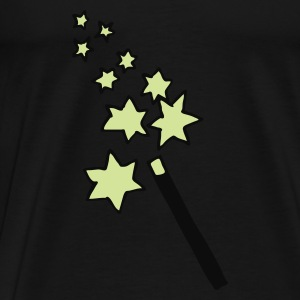 Navy magic - wand - wizard - witch  Kid's Tops - Men's Premium T-Shirt