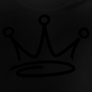 Black graffiti style crown Juniors - Baby-T-shirt