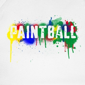 White Paintball Men's Tees (short-sleeved) - Baseball Cap