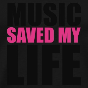 Noir music saved mylife Sacs - T-shirt Premium Homme