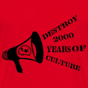 Rouge destroy_2000_years_of_culture3 Sweat-shirts - T-shirt Homme