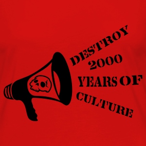 Rood destroy_2000_years_of_culture3 Sweaters - Vrouwen Premium shirt met lange mouwen