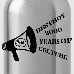 Black destroy_2000_years_of_culture3 Bags  - Water Bottle