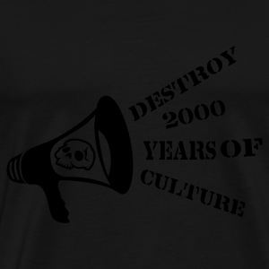 Noir destroy_2000_years_of_culture3 Sacs - T-shirt Premium Homme