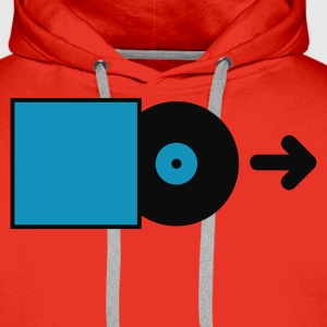 Red DJ - Vinyl - Save the Vinyl! Men's Tees - Men's Premium Hoodie
