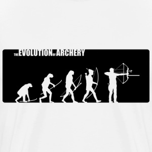 the evolution of archery Compound - Männer Premium T-Shirt