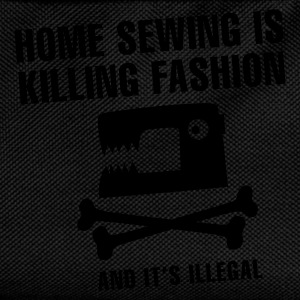 Zwart Home sewing is killing fashion T-shirts - Rugzak voor kinderen