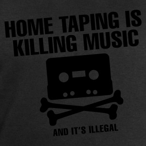Zwart Home taping is killing music T-shirts - Mannen sweatshirt van Stanley & Stella