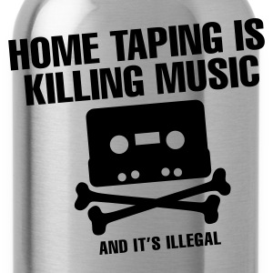 Zwart Home taping is killing music T-shirts - Drinkfles