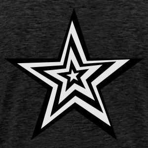 SPaCE BlackLight-series Distorted Star - Männer Premium T-Shirt