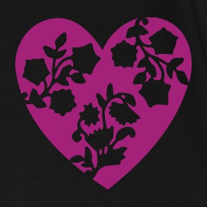 Black/white heart Bags  - Men's Premium T-Shirt