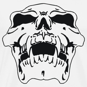 White/black skull head Long sleeve shirts - Men's Premium T-Shirt