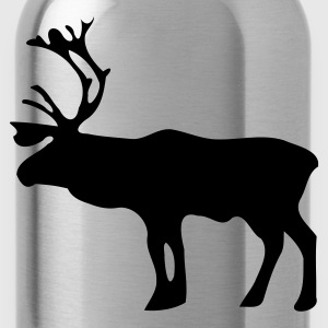 Red Reindeer Kid's Shirts  - Water Bottle