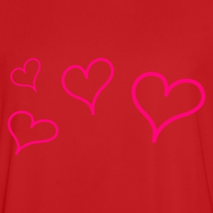 Red Flying Hearts Kid's Tops - Men's Football Jersey