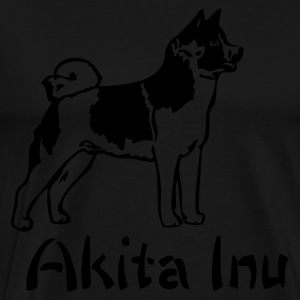 Black japaneseakitainu_01 Jumpers - Men's Premium T-Shirt
