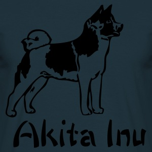 Navy japaneseakitainu_01 Jumpers - Men's T-Shirt