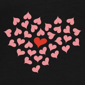 Black Hearts in Heart Umbrellas - Men's Premium T-Shirt