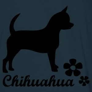 Navy chihuahuatext Coats & Jackets - Men's T-Shirt