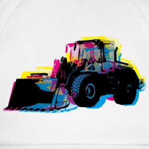 White Bulldozer Men's Tees - Baseball Cap