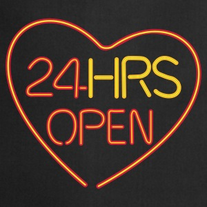 24 HRS OPEN for LOVE - Cooking Apron