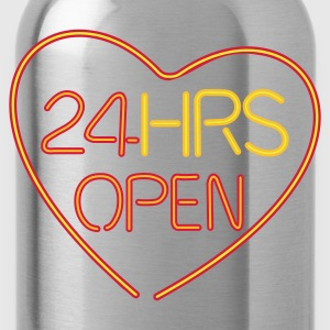 24 HRS OPEN for LOVE - Drinkfles