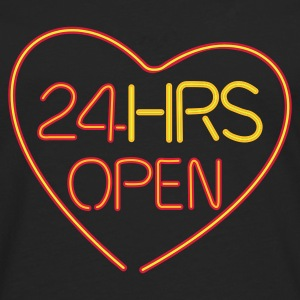 24 HRS OPEN for LOVE - Herre premium T-shirt med lange ærmer