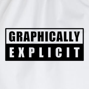 graphically explicit - Drawstring Bag