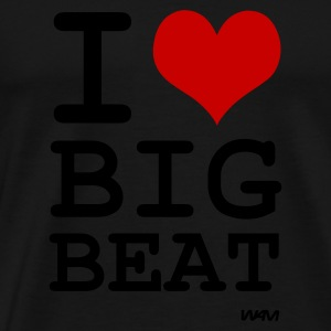 Schwarz i love big beat by wam Pullover - Männer Premium T-Shirt
