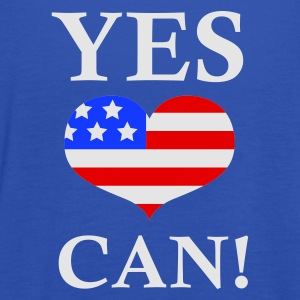 Marineblå Yes We Can!  T-shirts - Dame tanktop fra Bella