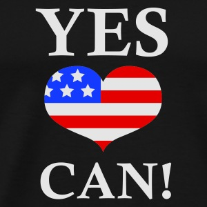 Svart Yes We Can - Barack Obama Tröjor - Premium-T-shirt herr