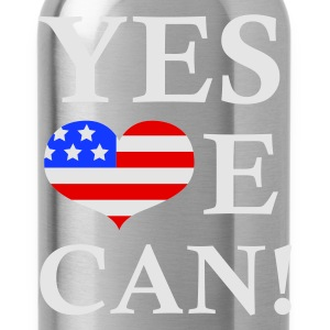 Sort Yes We Can!  T-shirts - Drikkeflaske
