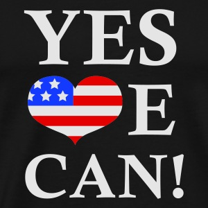 Svart Yes We Can - President Barack Obama Tröjor - Premium-T-shirt herr