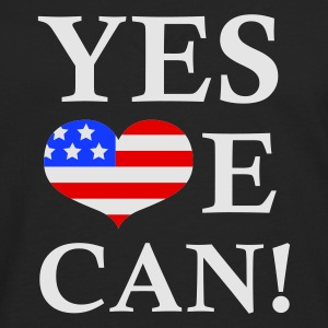 Noir Yes We Can!  Sweatshirts - T-shirt manches longues Premium Homme