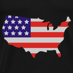 Noir Stars and Stripes of USA, United States of America  Tabliers - T-shirt Premium Homme