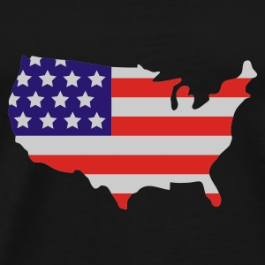 Noir Stars and Stripes of USA, United States of America  Parapluies - T-shirt Premium Homme