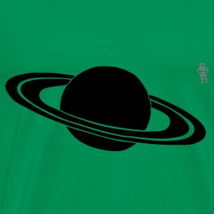 Vert Saturn - Astronaut - Space Tabliers - T-shirt Premium Homme