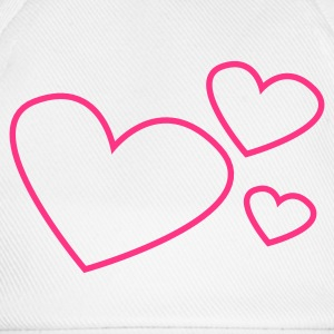Rose Hearts Baby Bibs - Baseball Cap