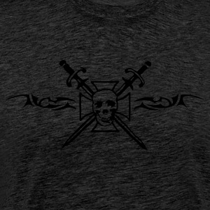 cross_skull Gensere - Premium T-skjorte for menn