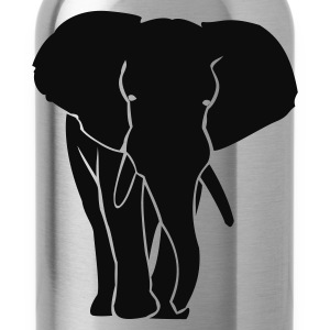 Kindershirt metalic zilveren olifant - Drinkfles
