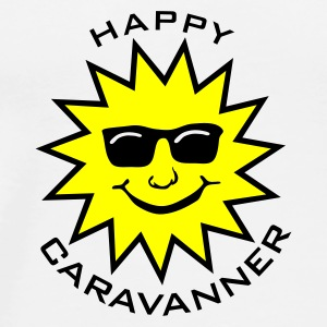 Happy Caravanner Buttons - Men's Premium T-Shirt