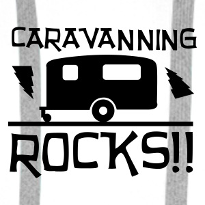Caravanning Rocks Buttons - Men's Premium Hoodie
