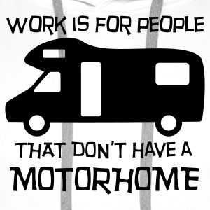 Motorhome - work is for people Buttons - Men's Premium Hoodie