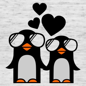 Grau meliert penguins fallen in love Pullover - Frauen Tank Top von Bella