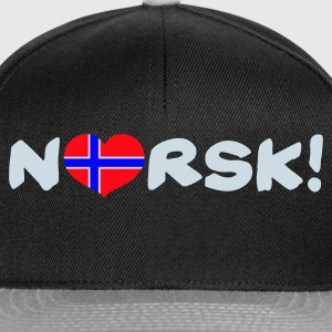 Black Norsk white Kid's Shirts  - Snapback-caps