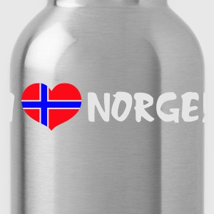 Black I Heart Norway  Men's Tees - Water Bottle